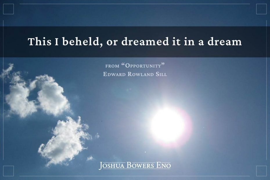 """photo with quote """"this I beheld or dreamed it in a dream"""""""